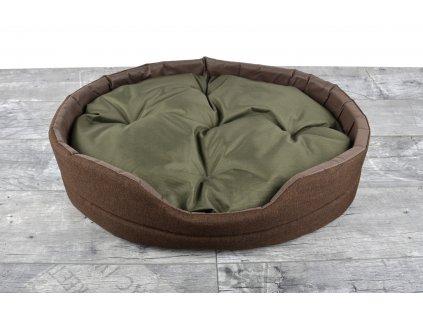 Pelíšek pro psy DREAM DOG LARGE s prošívaným polštářem 57x46x15 cm hnědá Mybesthome