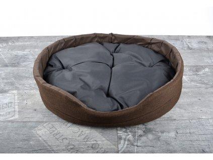 Pelíšek pro psy DREAM DOG BIG s prošívaným polštářem 60x50x15 cm hnědá Mybesthome