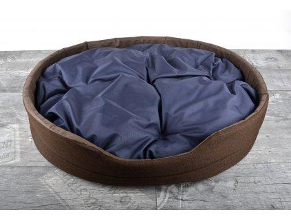 Pelíšek pro psy DREAM DOG GIGANT s prošívaným polštářem 72x61x15 cm hnědá Mybesthome