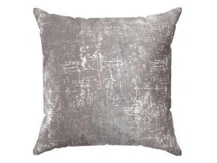 Polštář DARA šedá/stříbrná 40x40 cm Mybesthome