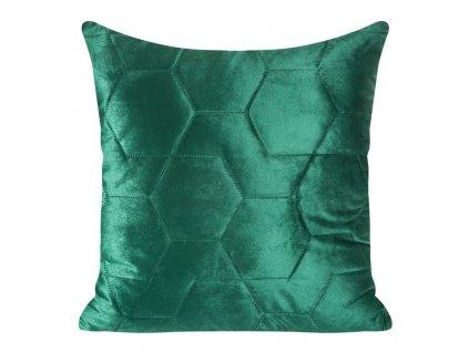 Polštář ARIANNA velvet zelená 40x40 cm Mybesthome