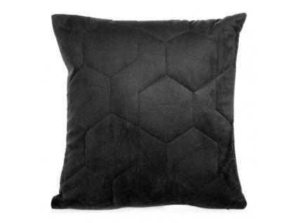 Polštář ARIANNA velvet černá 40x40 cm Mybesthome