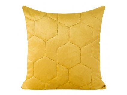 Polštář ARIANNA velvet hořčice/mustard 40x40 cm Mybesthome