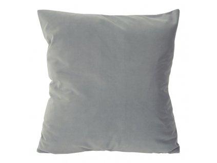 Polštář RUBI VELVET šedá 45x45 cm Mybesthome