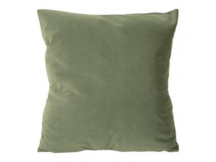 Polštář RUBI VELVET světle zelená 45x45 cm Mybesthome