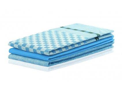 SET 3 kusů utěrka WANDA modrá, 100% bavlna 50x70 cm MyBestHome