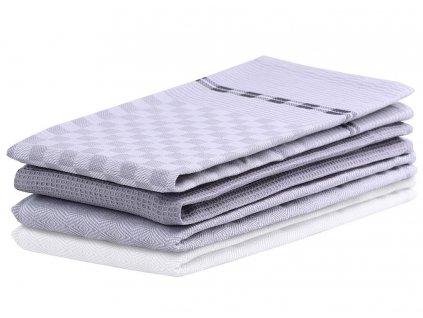 SET 3 kusů utěrka WANDA světle šedá, 100% bavlna 50x70 cm MyBestHome