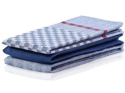 SET 3 kusů utěrka WANDA tmavě modrá, 100% bavlna 50x70 cm MyBestHome