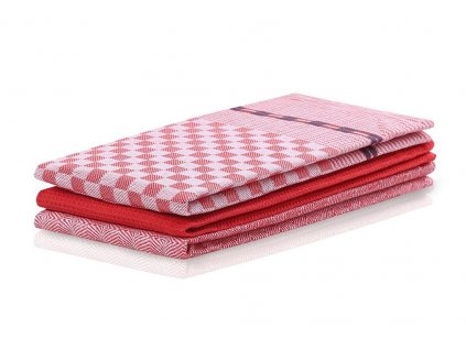 SET 3 kusů utěrka WANDA červená, 100% bavlna 50x70 cm MyBestHome