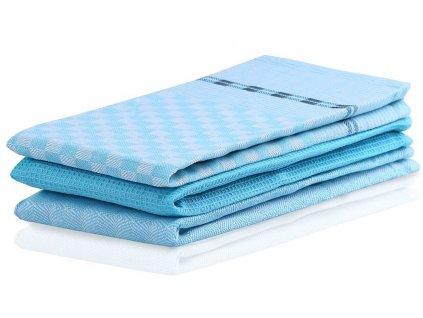 SET 3 kusů utěrka WANDA tyrkysová, 100% bavlna 50x70 cm MyBestHome