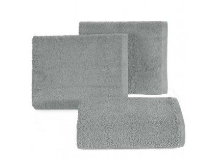 Bavlněný froté ručník MUSA 50x90 cm, stříbrná, 500 gr Mybesthome