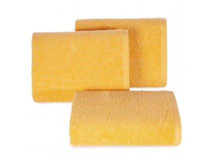 Bavlněný froté ručník MUSA 50x90 cm, žlutá, 500 gr Mybesthome