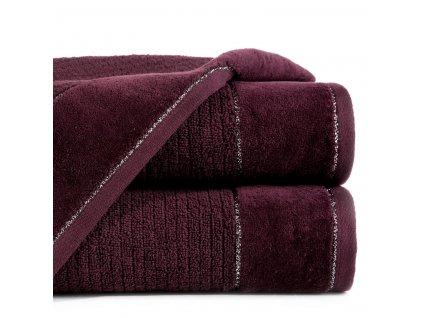 Bavlněný froté ručník s bordurou DAGA 50x90 cm, bordová, 520 gr Eva Minge