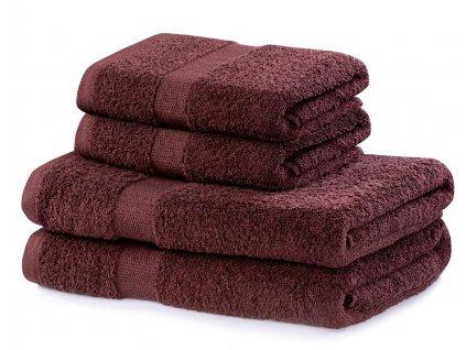 Set 100% bavlna CECIL 2x ručník 50x100 cm a 2x osuška 70x140 cm, hnědá, 525 gr, Mybesthome