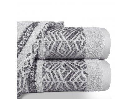 Bavlněný froté ručník TEO 50x100 cm, stříbrná, 480 gr PIERRE CARDIN