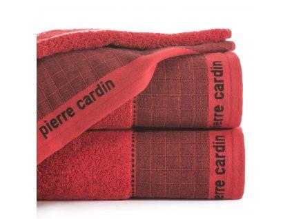 Bavlněný froté ručník MAKS 50x100 cm, červená, 500 gr PIERRE CARDIN