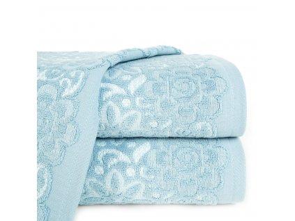 Bavlněný froté ručník se vzorem SAM 50x90 cm, modrá/bílá, 500 gr Mybesthome