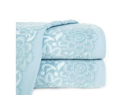 Bavlněná froté osuška se vzorem SAM 70x140 cm, modrá/bílá, 500 gr Mybesthome