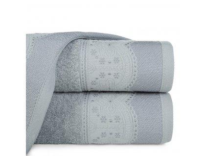 Bavlněná froté osuška s bordurou SAMOA 70x140 cm, šedá, 450 gr Mybesthome