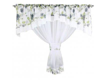 Dekorační záclona se SABINA bílá/šedá 400x160 cm MyBestHome