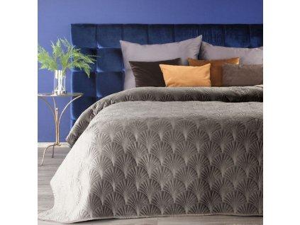 Přehoz na postel SAVA 220x240 cm béžová Mybesthome