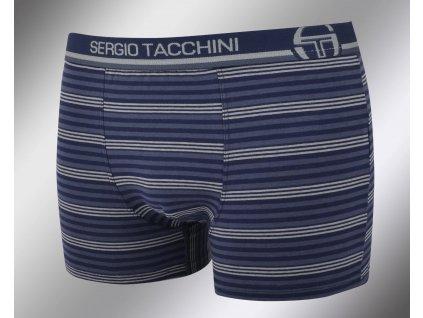 Pánské vzorované boxerky 18457 blu Sergio Tacchini