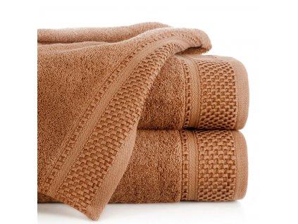 Bavlněný froté ručník s proužky CANDY 50x90 cm, cihlová, 580 gr Mybesthome