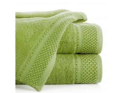 Bavlněný froté ručník s proužky CANDY 50x90 cm, zelená, 580 gr Mybesthome