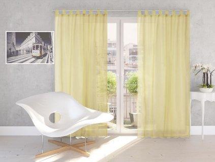 Dekorační záclona DIANA žlutá 140x245 cm MyBestHome
