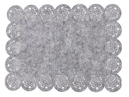 Prostírání MUFFINS šedá 30x45 cm Mybesthome