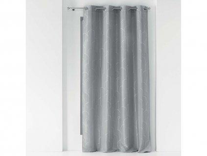 Dekorační závěs ALCANTA šedá/stříbrná 140x260 cm MyBestHome