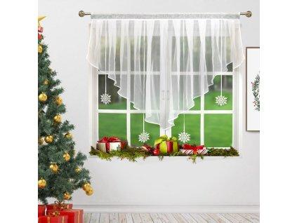 Dekorační krátká záclona se zirkony NATALE bílá 130x120 cm MyBestHome