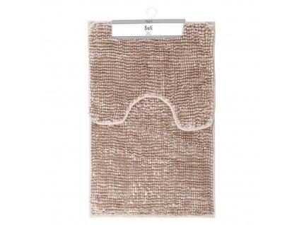 Koupelnová + WC předložka - sada 2 ks BORNEO, růžová, 50x80 cm, 40x50 cm Mybesthome