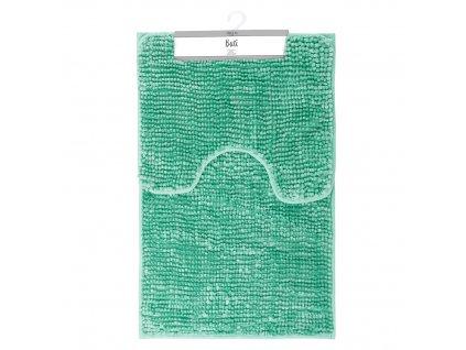Koupelnová + WC předložka - sada 2 ks BORNEO, zelená, 50x80 cm, 40x50 cm Mybesthome