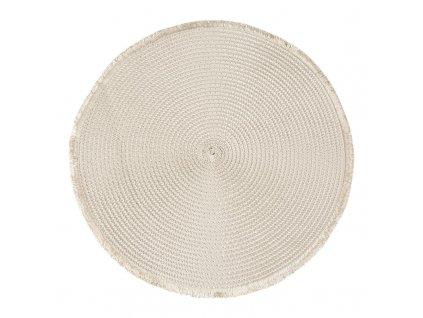 Prostírání kulaté CUBA béžová Ø 38 cm Mybesthome