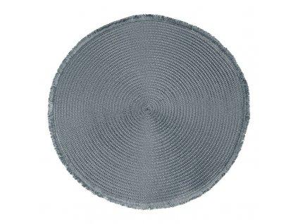Prostírání kulaté CUBA modrá/šedá Ø 38 cm Mybesthome