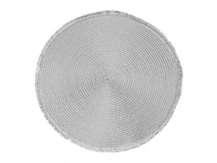 Prostírání kulaté CUBA stříbrná Ø 38 cm Mybesthome