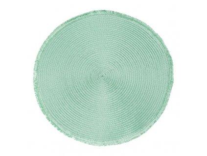 Prostírání kulaté CUBA zelená Ø 38 cm Mybesthome