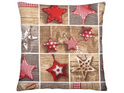 Bavlněný polštář 004 CHRISTMAS TIME 100% bavlna 40x40 cm, Mybesthome