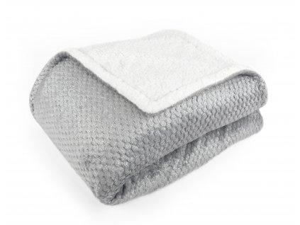 Přehoz - deka z mikrovlákna s beránkem LUSH šedá 150x200 cm Essex