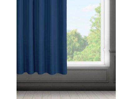Dekorační krátký závěs s řasící páskou SAMARA modrá 140x175 cm MyBestHome