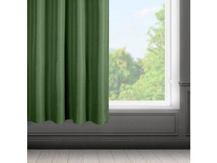 Dekorační krátký závěs s řasící páskou SAMARA zelená 140x175 cm MyBestHome