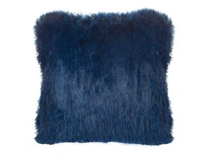 Polštář SHAG 40x40cm tmavě modrá MyBestHome
