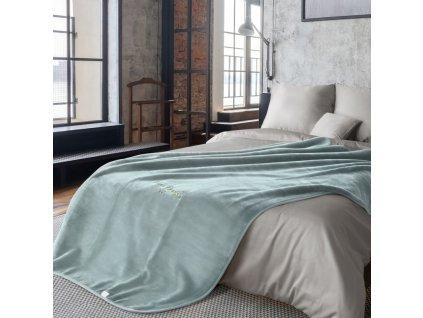 Luxusní přehoz na postel PIERRE CARDIN, modrá, 220x240 cm