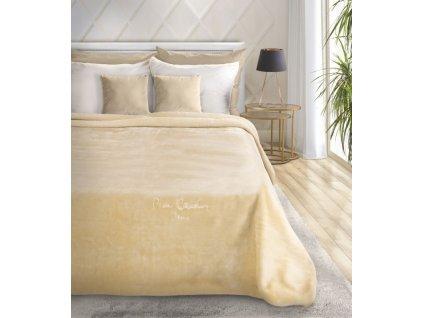Luxusní přehoz na postel PIERRE CARDIN, krémová, 220x240 cm