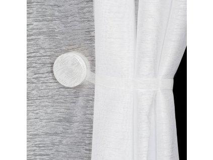 Dekorační ozdobná spona na závěsy s magnetem SWEN bílá, Ø 4 cm Mybesthome