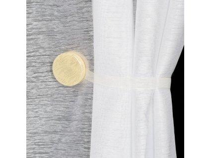 Dekorační ozdobná spona na závěsy s magnetem SWEN krémová, Ø 4 cm Mybesthome