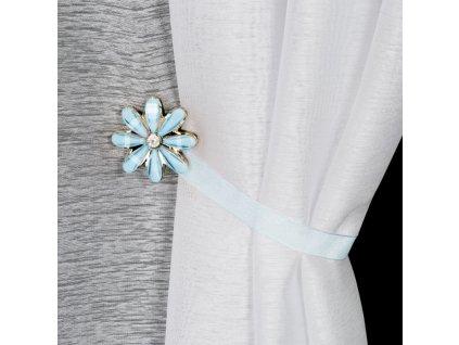 Dekorační ozdobná spona na závěsy s magnetem VICTORIA modrá, Ø 5 cm Mybesthome