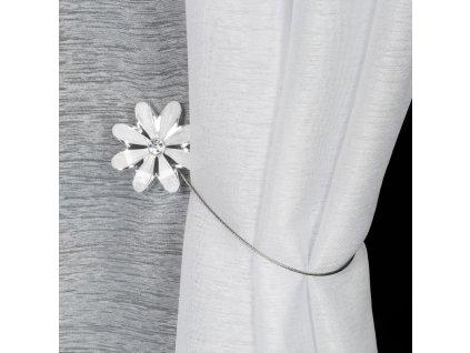 Dekorační ozdobná spona na závěsy s magnetem KIKI bílá, Ø 5 cm Mybesthome