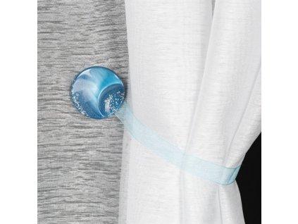 Dekorační ozdobná spona na závěsy s magnetem MARLENA modrá, Ø 4 cm Mybesthome